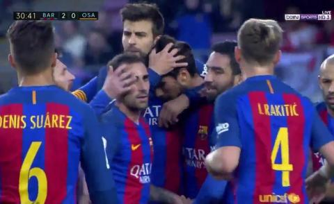 Embedded thumbnail for LaLiga: FC Barcelone 7-1 Osasuna